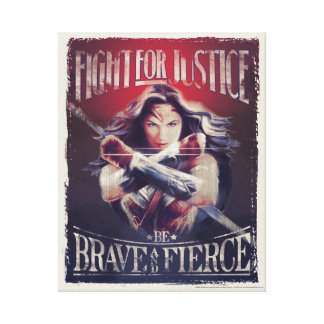 Lienzo Lucha de la Mujer Maravilla para la justicia