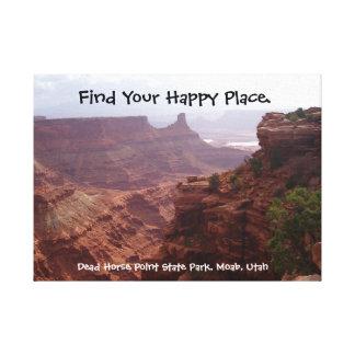 Lienzo Lugar feliz Utah
