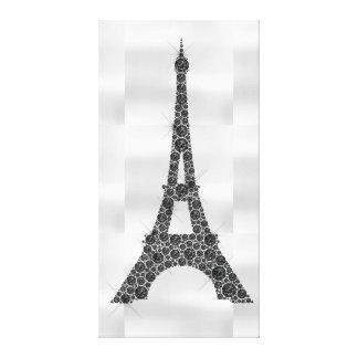 Lienzo Lujo blanco negro de París del francés de la torre