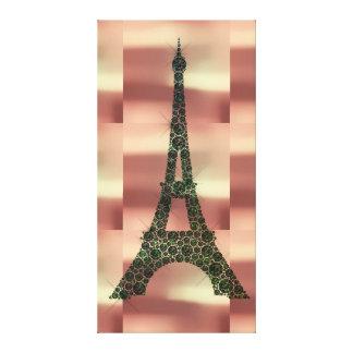 Lienzo Lujo tropical de la geometría de París del francés