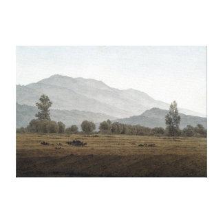Lienzo Luna Nueva Riesengebirge de Caspar David Friedrich