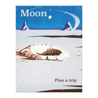 Lienzo Luna - poster del viaje de la ciencia ficción del