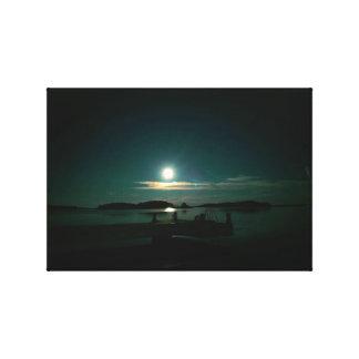 Lienzo Luna y Venus reflectores