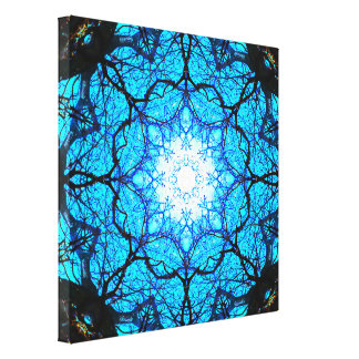 Lienzo Mandala azul brillante