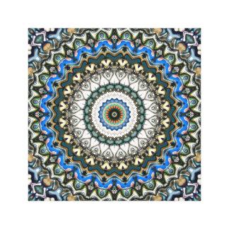Lienzo Mandala colorida adornada