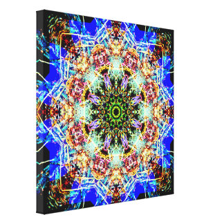 Lienzo Mandala colorida de las estrellas