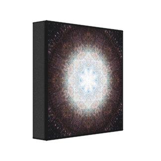 Lienzo Mandala de cristal rota