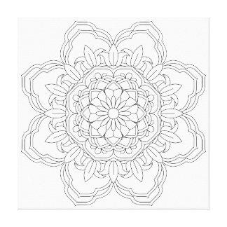 Lienzo Mandala de la flor. Elementos decorativos del