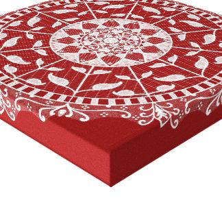 Lienzo Mandala de la frambuesa