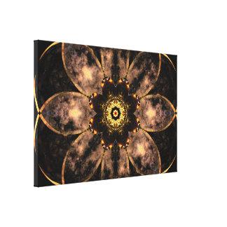 Lienzo Mandala de oro de la luna de la base