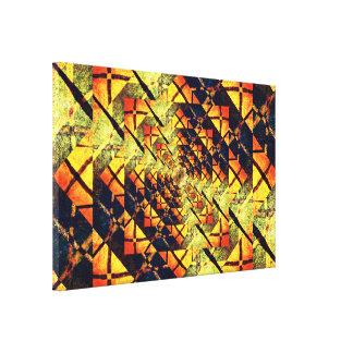 Lienzo Mandala de oro del túnel de la estrella