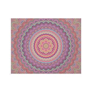 Lienzo Mandala geométrica del Hippie