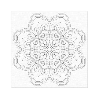 Lienzo mandala hermosa del vector de la mandala, diseño