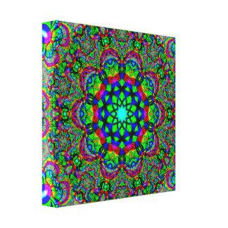 Lienzo Mandala psicodélica de la flor
