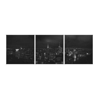 Lienzo Manhattan NYC en la lona panorámica de la noche