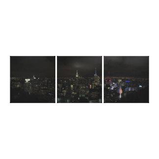 Lienzo Manhattan NYC en la lona partida de la noche