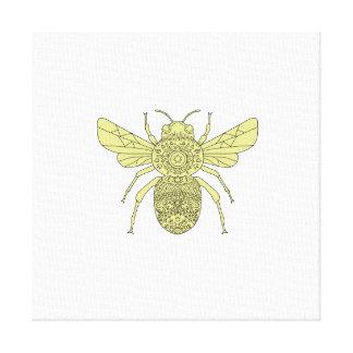 Lienzo Manosee la mandala de la abeja