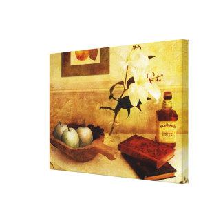 Lienzo Manzanas y peras en un vestíbulo