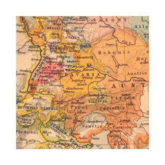 Lienzo Mapa antiguo extraordinario Europa Central