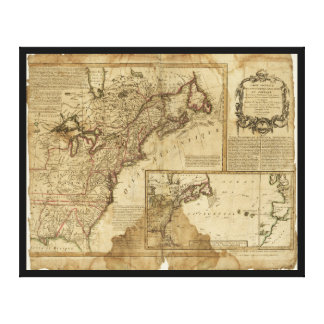 Lienzo Mapa de América temprana (1780)