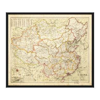 Lienzo Mapa de China (circa 1900)