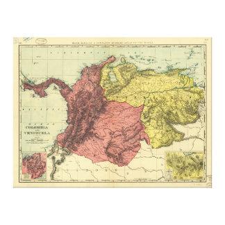 Lienzo Mapa de Colombia y de Venezuela (1898)