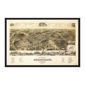 Lienzo Mapa de la ciudad de Staunton, Virginia (1891)