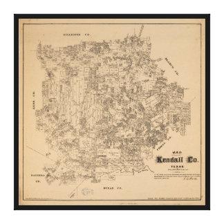 Lienzo Mapa del condado de Kendall, Tejas (1879)