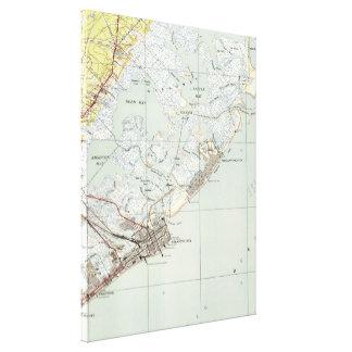 Lienzo Mapa del vintage de Atlantic City NJ (1941)