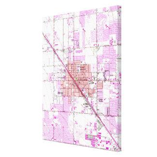 Lienzo Mapa del vintage de Glendale Arizona (1957)
