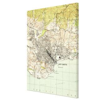Lienzo Mapa del vintage de Santa Barbara California