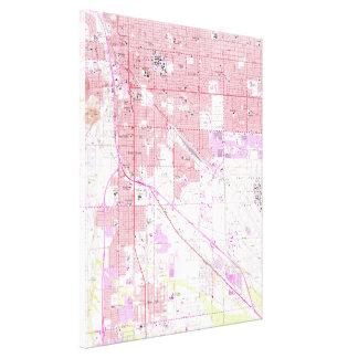 Lienzo Mapa del vintage de Tucson Arizona (1957)