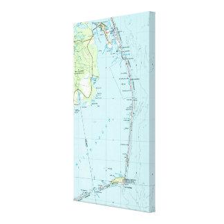 Lienzo Mapa meridional de Outer Banks del vintage (1957)