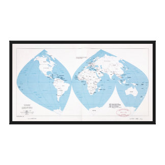 Lienzo Mapa político del mundo (1983)