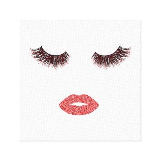 Lienzo Maquillaje con efecto del purpurina