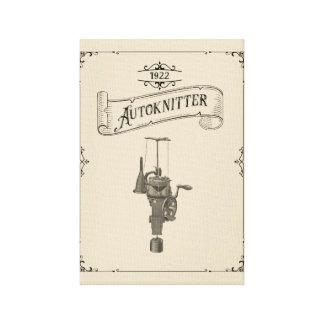 Lienzo Máquina circular antigua de Autoknitter