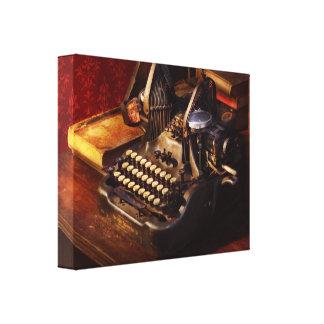 Lienzo Máquina escribir de Steampunk - de Oliverio