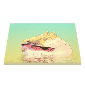 Lienzo Mar Shell de la concha de la reina en la
