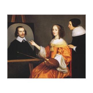 Lienzo Margarita Maria de Roodere y sus padres