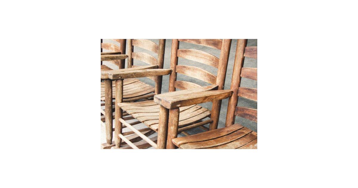75c45451d Lienzo Mecedoras de madera rústicas | Zazzle.es