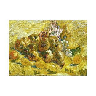 Lienzo Membrillos, limones, peras y uvas de Vincent van