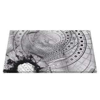 Lienzo Memorias hechas fragmentos del fractal y vidrio
