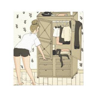 Lienzo Messy Bedroom / Habitación Desordenada
