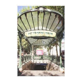 Lienzo Metro de las abadesas, Montmartre, París