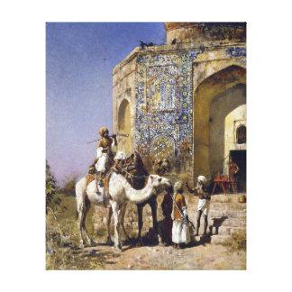 Lienzo Mezquita de señor Weeks The Old Azul-Tejar de