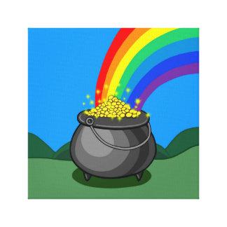 Lienzo Mina de oro y arco iris