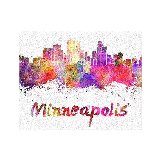 Lienzo Minneapolis skyline in watercolor