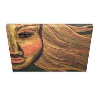 Lienzo Mire dentro de la pintura de acrílico