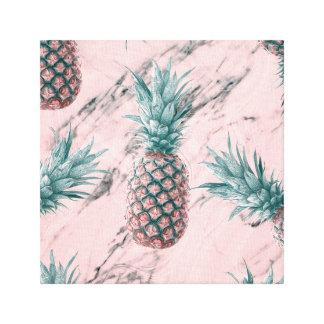 Lienzo Moda tropical moderna de la piña y del remolino de