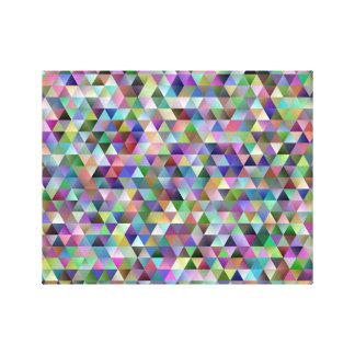 Lienzo Modelo feliz del triángulo